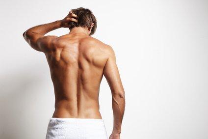 Mann-Rückenansicht